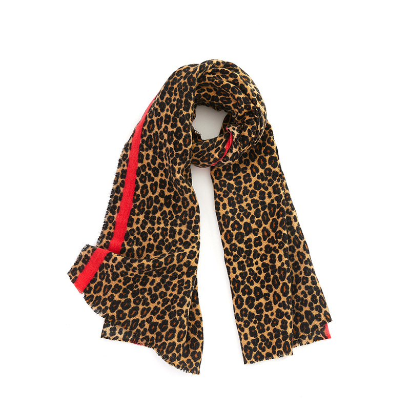 Fashion design Light Leopard-spotted Cashmere-feel Acrylic Scarf shawl