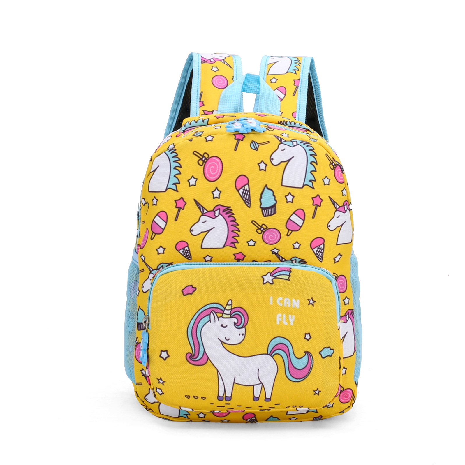 pink blue factory promotion oem boys custom logo school Cheap small horse unicorn print book child backpack for girl
