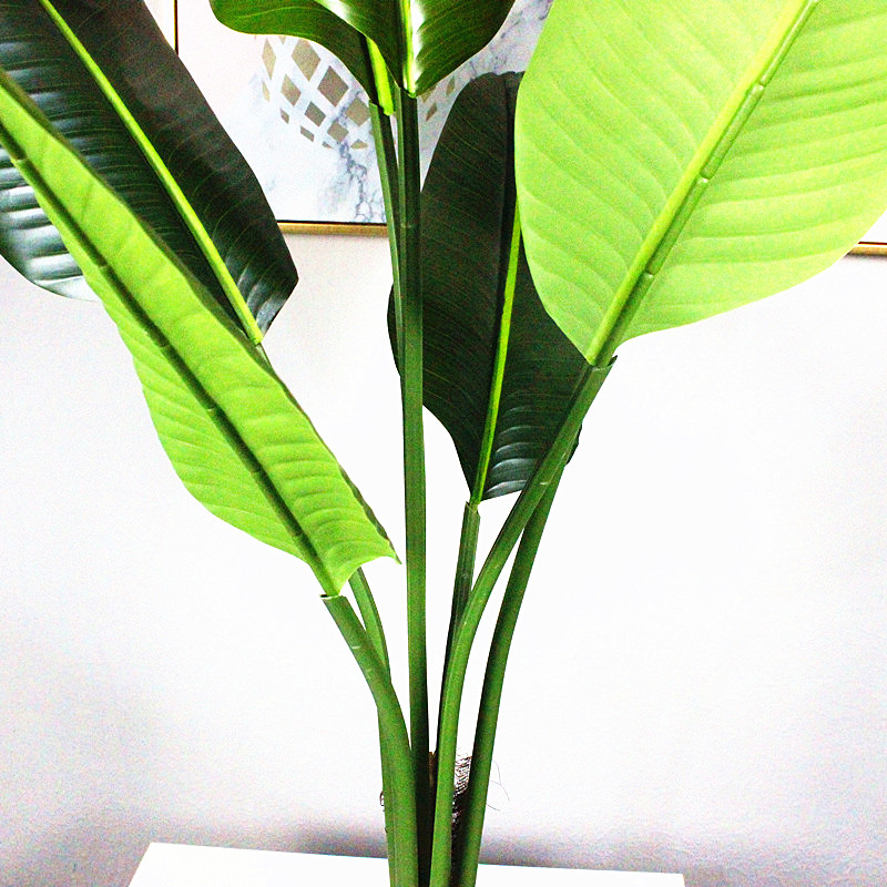 High-end product quality goods new technology artificial traveler banana tree potted bonsai plant real touch highlight leaf