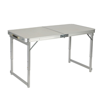 High quality portable aluminum folding camping beach picnic outdoor table