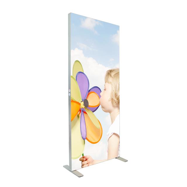 Advertising street display new material slim aluminum freestanding led strip for fabric flat light box