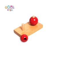 Preschool Learning Teaching Material Wooden Large And Small Ball Educational Montessori Toys for 1 Year Old