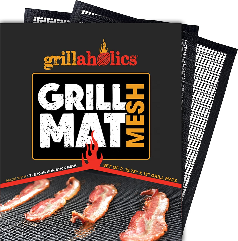 से अधिक बड़ा BBQ ग्रिल चटाई (3 के सेट) भारी शुल्क गैर छड़ी BBQ और Grilling शीट सबसे अच्छा बारबेक्यू सामान लकड़ी का कोयला Grills