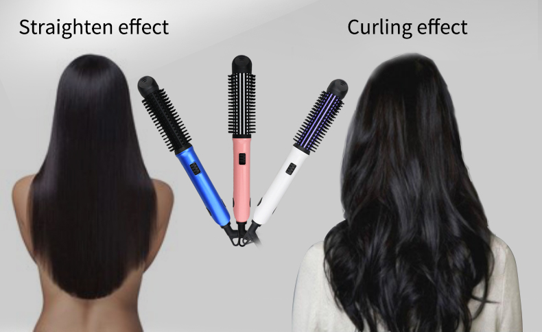 dodo L-700A hair straightener brush ionic electric hair straightener brush