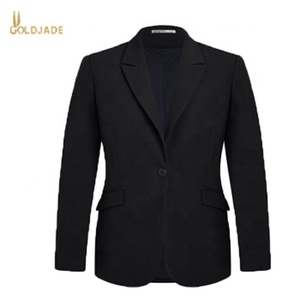 Hot selling wholesale customized high quality two buttons slim fitting formal business women's jacket & coat in office