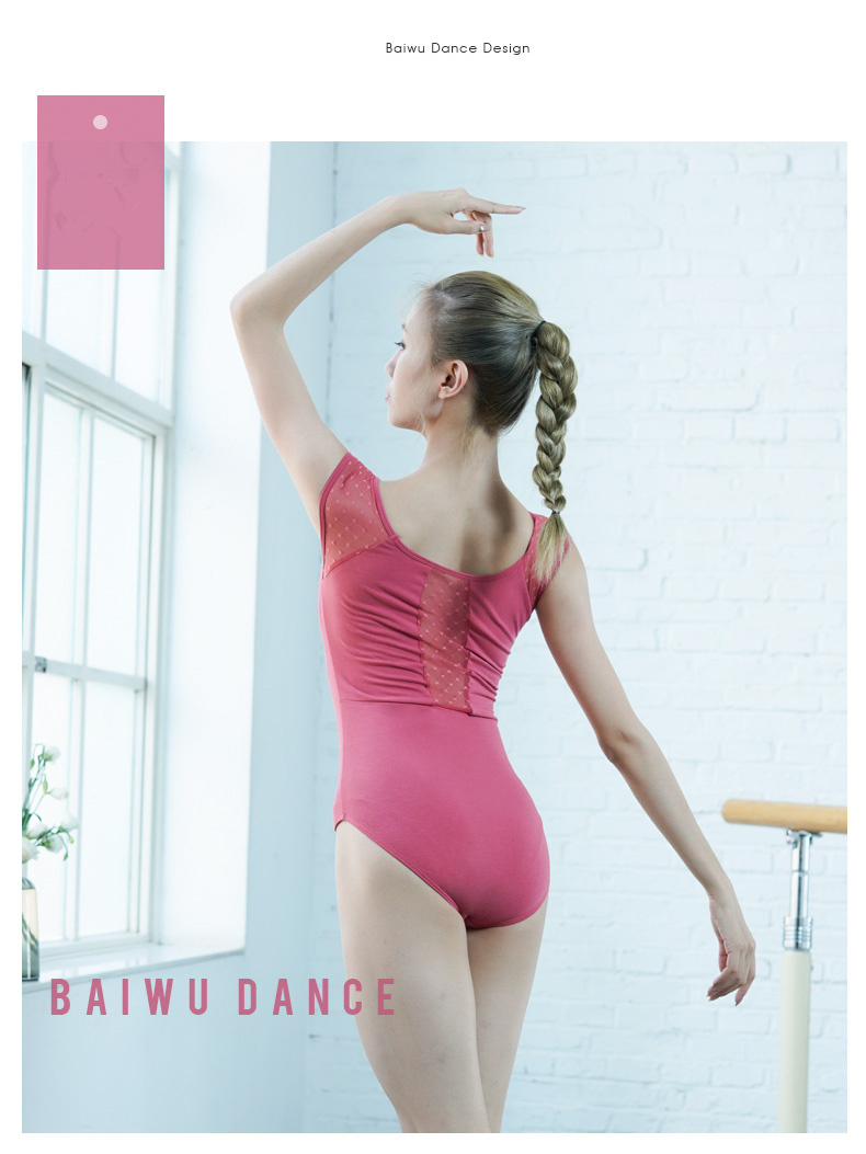 119141019  Sweetheart Mesh Leotards Baiwu Fashion Cute Ballet Dance Leotards