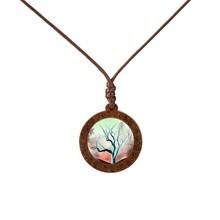 Новое поступление ручной работы дерево стекло кабошон жизнь ожерелье дерево и подвески для женщин Персонализированные ювелирные аксессуа...(Китай)