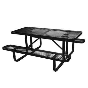 Arlau Outdoor Metal Picnic Table Benches Thermoplastic Steel Patio