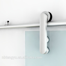TENGYU Modern Aluminum Sliding Glass Barn Door Hardware Track Kit System