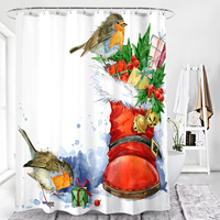 Polyester Shower Curtain Liner,Mildew Resistant Waterproof 72x72 Inch Eco-Friendly Custom Bathroom Curtain