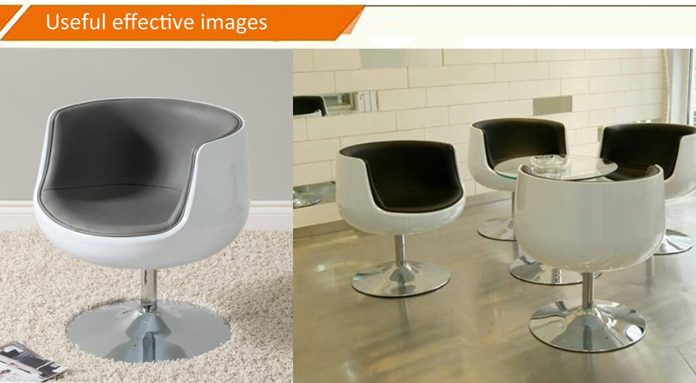 Modern cup shaped design Fiberglass Coffee aviator aluminum wrapped cup chair