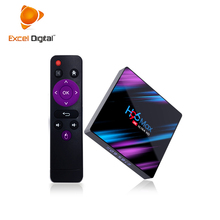 Excel Digital Mais Recente H96 max rk3318 quad core caixa de Tv android 9.0 GB DDR3 16 2GB 4 Inteligente K caixa de Tv