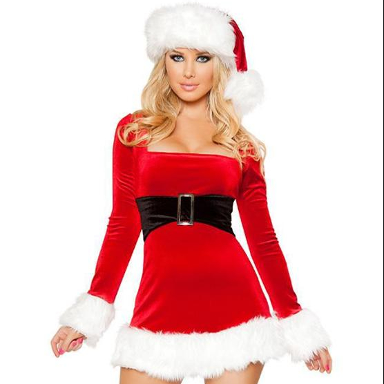 2020 new arrivals gothic adult christmas ornament costume fat women sexy christmas costume
