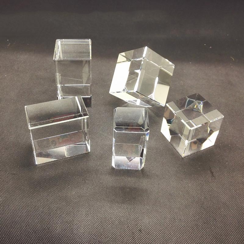 주문 로고 크리스탈 빈 큐브 사각 레이저 새겨진 공예 클리어 K9 빈 3D 크리스탈 블록