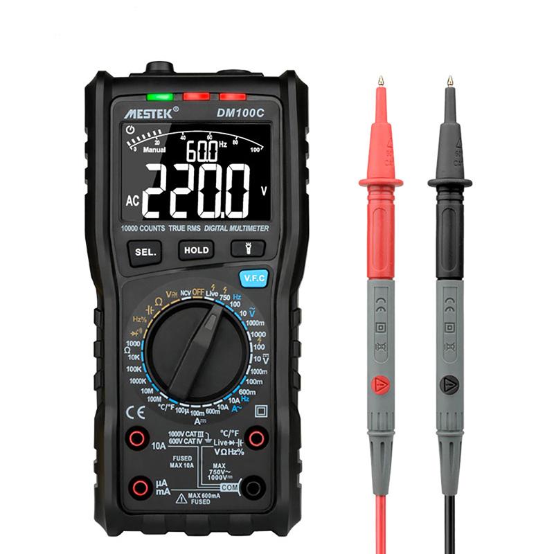 Новые поступления True-RMS Digital Multimeter10000 граф с аналоговым гистограммой AC/DC Напряжение Амперметр Ток Ом прецизионный мультиметр