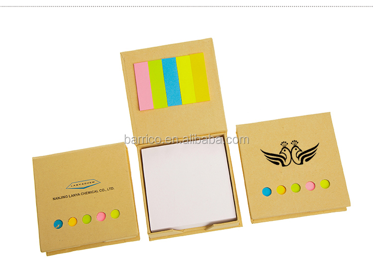 Kraft cover  pad /Memo pads / Removable bookmark /customized logo /MOQ 50 pcs custom sticky notes
