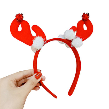 Christmas headband  Christmas gift Santa Claus antlers adult children show headband hair accessories