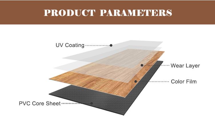 ไวนิลกันน้ำ Anti SLIP PVC หลังคากระเบื้องเช่นไม้
