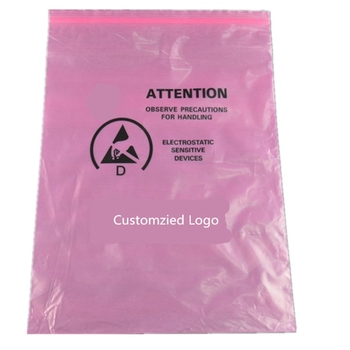 Antistatic Plastic Packing Bag with Heat Sealing ESD Pink PE Bag A0105