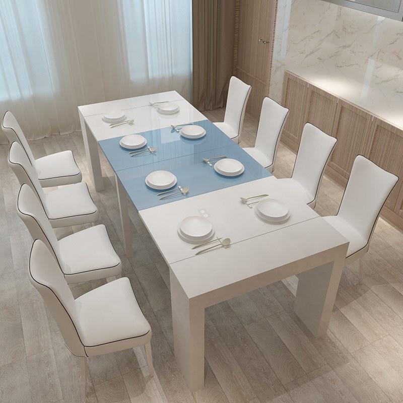 Venta al por mayor mesa comedor blanca extensible-Compre ...