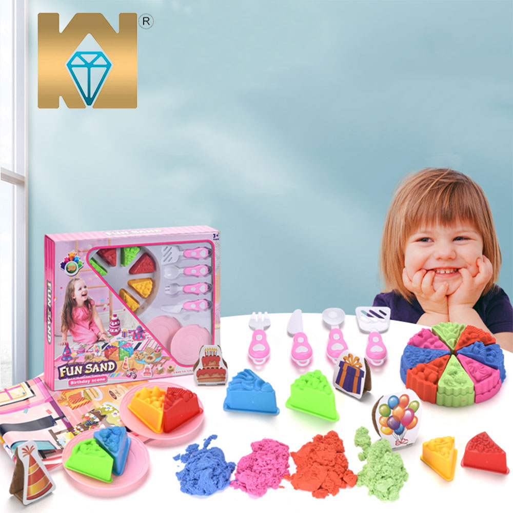 Juguetes al por mayor Non Toxic Kids DIY <strong>Magic</strong> Fluffy Play <strong>Sand</strong> With Colorful Toys Mould