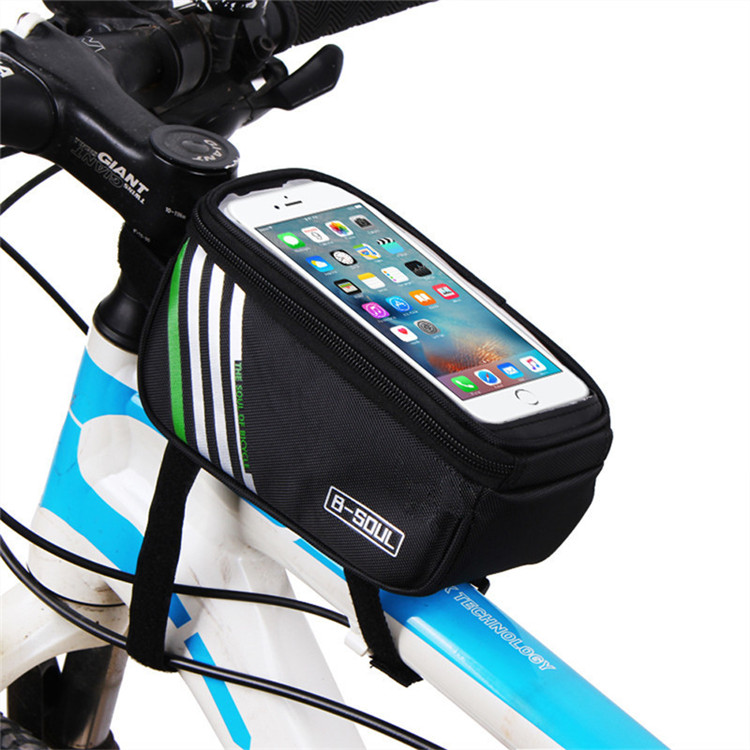 Outdoor bicycle waterproof bag mountain bike mobile phone front bag  bicycle touch screen phone bag