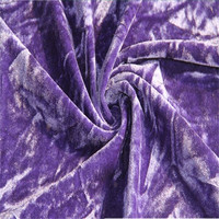 Four way stretch velour/velvet fabric for sale