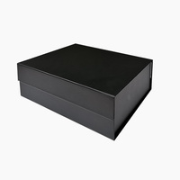 OEM factory made cheap price custom luxury gift black magnetic box with LOGO