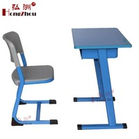Plastic Metal Frame School Desk and Chair Single Seat for Child Study
