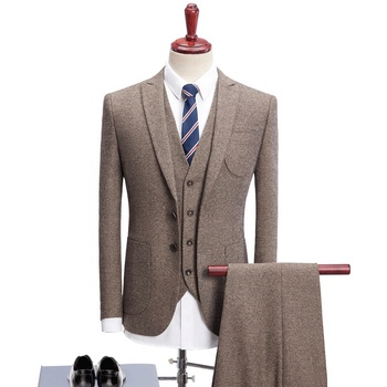Formal Slim Fit Business Suit for Man Wedding Best Man Suits Wool Business Coat