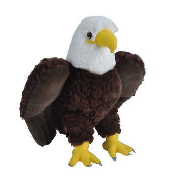 Custom New Fashion Eagle Plush Toy Lifelike Fur Wild Animal Stuffed Soft Plush Eagle Toy