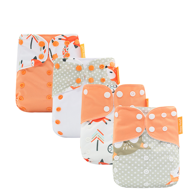 Happy flute  fit all washable pocket cloth baby diapers factory wholesale, More 500clor