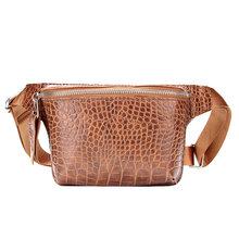 Повседневная поясная сумка для женщин, поясная сумка из кожи аллигатора, сумка для телефона, нагрудная сумка, Дамский широкий ремень, женска...(Китай)