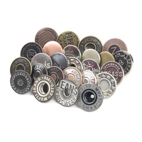 Logo Customized Brass Copper Metal Custom Denim Jeans Tack Buttons for Jeans