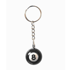 number 8 Billiard ball keychain keyring