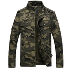 The new men's style men's camouflage jacket with vertical collar and long sleeve coat for autumn