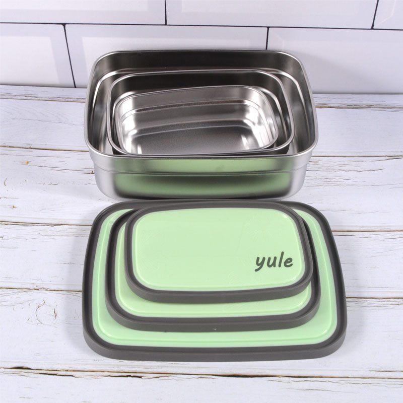 Factory outlet 3 sizes Stainless Steel tiffin box for dining