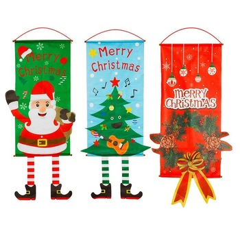 Tapestry christmas 80*40cm Wall Hanging Fabric Decor Snowman blanket Yoga Mat Blankets Beach Carpet Yoga christmas Decor