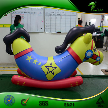 Bounce Jumping Inflatable Horse Hongyi Funny Horse Toy