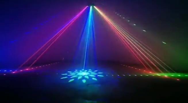 Laser Projector Lamp Dmx 9 Ogen Laser Strobe Patroon Verlichting Hoge Helderheid Verlichting Voor Dj Disco Ktv Club Stadium Bar party