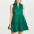 Summer Casual Tank Dress Christmas Design Fashion Sleeveless Round Neck Fit and Flare green Pleated Women Dresses