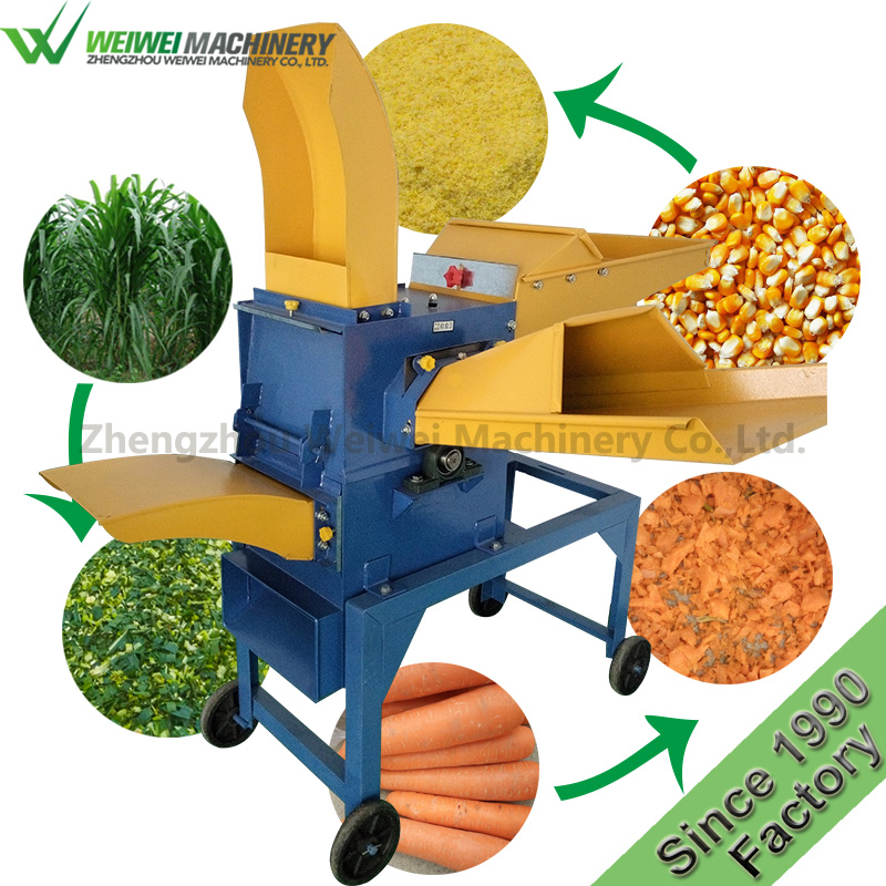 Weiwei diesel electronic cow grass cutting kneading mini goats grass chaff cutter rabbit feed blades grinder machine for sale