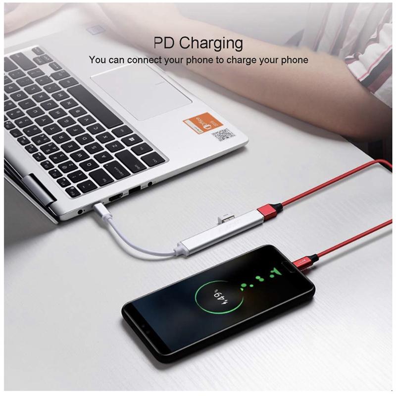 Eonline USB C HUB USB 3.0 Splitter Thunderbolt 3 USB-C Dock Adapter OTG for Macbook Pro 13 15 Air Mi Pro HUAWEI Matebook