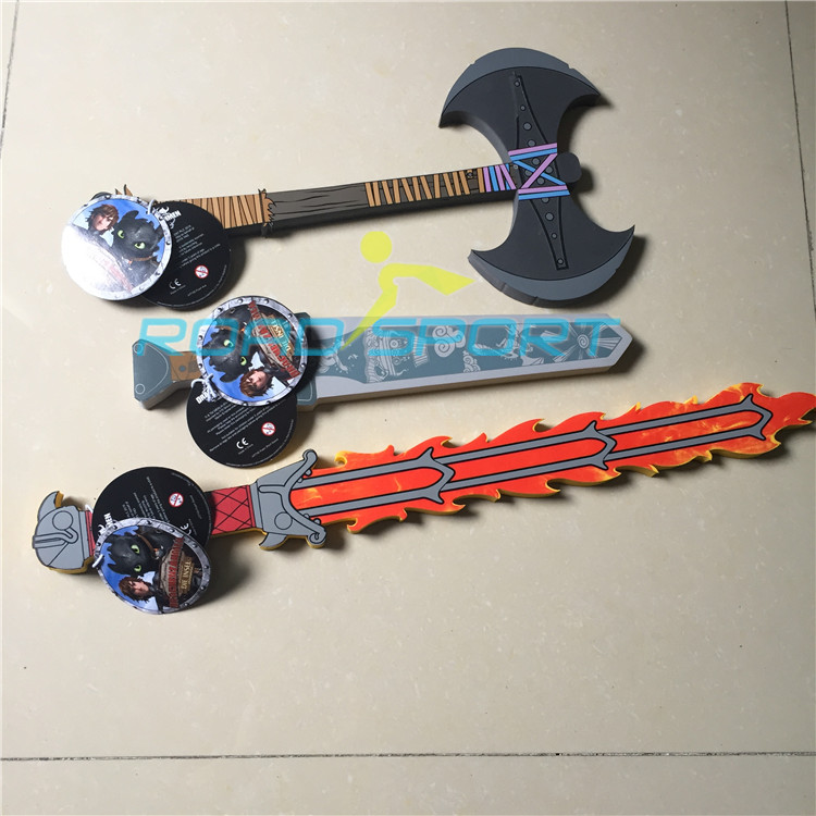 RDS028 3D foam EVA PU toy samurai sword cosplay swords for kids OEM