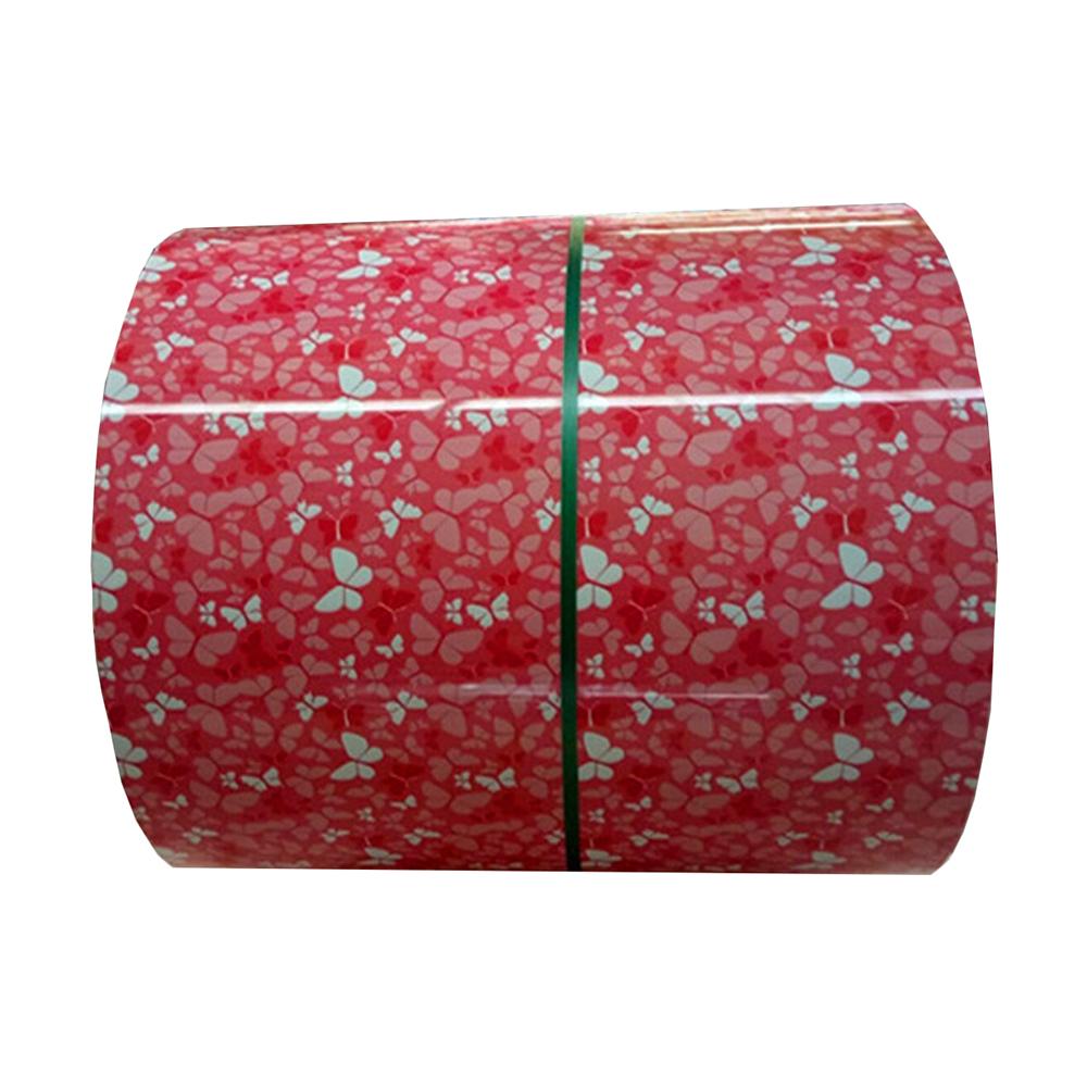 Color coated flower design PPGI Prepainted Galvanized Steel Coil