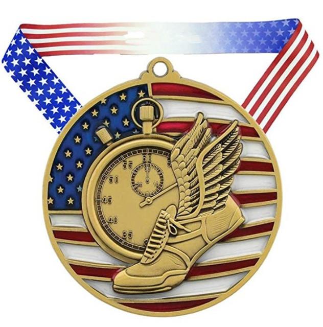 Voetbal Wereld Klasse Medaille 3 Inch Breed Futbol Medaillon met Lint