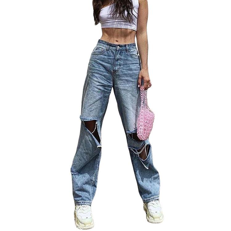 En gros Offre Spéciale nouvelle mode jeans déchirés pour femmes