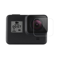 New Arrival GoPros Accessories Lens and LCD Screen Tempered Glass Screen Protectors Film for Go Pro Hero8 Camera