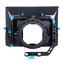 Camshade Profesional Sudut Lebar Matte Box dengan 15 Mm Rod Adaptor untuk DSLR Video DV Camcorder Nikon <span class=keywords><strong>Sony</strong></span> Blackmagic Kamera