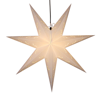 Fashion Glitter Purple Paper Star LED Light Hanging Lantern Christmas